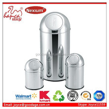 3L,8L,35L,40LGuangdong Jiangmen Stainless Steel Round Shape Touch Bin Puch Can