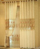 High quality and luxury Modern sheer voile window curtain with loops