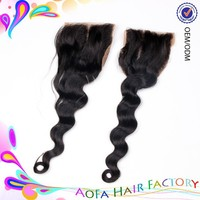 hot selling raw virgin unprocessed high quality body wave lace front closure piece