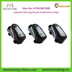 2015 newest design polyester bike bag bicycle mobile phone bags
