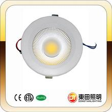 10-50W 3 colors in one fitting led dimmable COB downlight CE, SAA from DT strong export carton