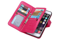 Luxury Crazy Horse grain Credit Card Wallet Stand Flip leather case for iphone 6s leather phone case china price