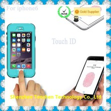 ip68 touch id waterproof case for iphone 6, for iphone 6 waterproof phone case