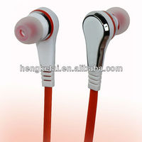 Flat cable fashion earpiece for iPhone/Sony/Samsung mobile phones