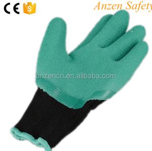 シームレスニット女性掘りと植栽防水作業安全ハンド爪ガーデン魔神手袋