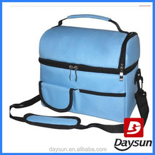 Blue Oxford Fabric Portable Cooler Bags Retain Freshness Bag