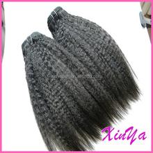 alibaba express peruvian human hair yaki type machine weft fashion hair