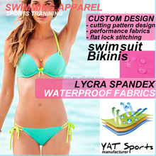 Custom design Beach water sports New sexy waterproof lycra fabrics anti-uv triangle Ladies Swimwear Bikini