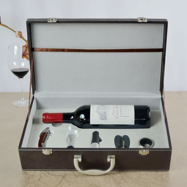 2 Bottles Leather Wine Box / Wine Carrier / Wine Bag