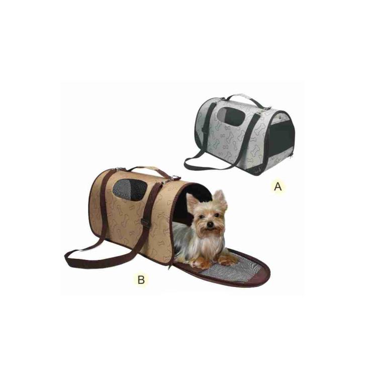 Superior 2 tonos lujo manija portátil plegable bolsa del perro