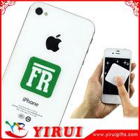 Customized digital printed logos microfiber mobile cleaner stickers