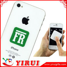 YS034 customized digital printed logos microfiber mobile cleaner stickers