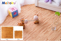 Light brown Elegant home furnishing natural wood pattern eva mat large size thickened