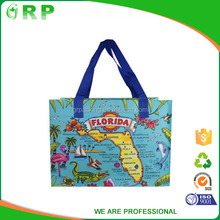 Promotional folding collapsible rolling shopping bag grocery bag