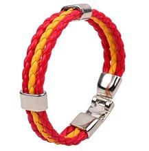 2014 Latest Fashion Charm spain PU Leather Bracelet
