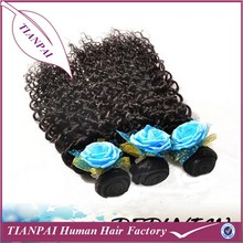 Tangle Free Shedding Free Kinky Curl Peruvian Human Hair Extension, Afro Curl Human Hair