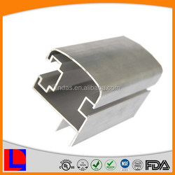 6000 series natural anodized cupboard frame aluminium extrusion