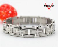 Mingfu 316L SS shiny heavy man bracelet new model jewellery