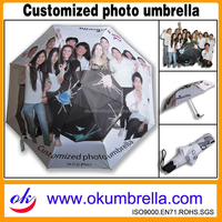 2015 New Products Picture Sublimation Rain Umbrella