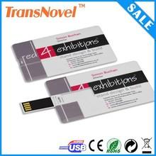 hotsale usiness card usb flash drive, card usb flash with logo printing