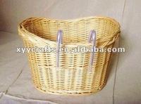 cheap big wicker bike basket (factory supplier)