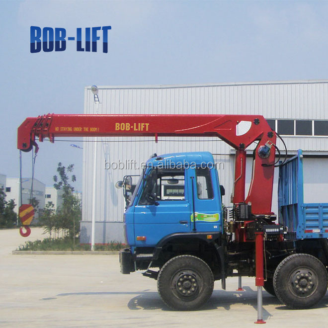 Hydraulic Boom Lifts For Pickups : Ton used hydraulic new mobile truck mounted crane boom