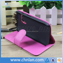 Hot selling durable card slot leather flip case for motorola moto g with stand