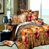 HL-2 Most popular of flower design pvc bags for bed sheet
