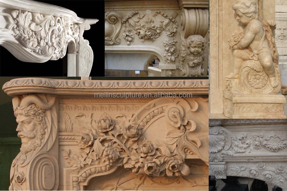 Marmol blanco indoor decoracion repisa de la chimenea eléctrica ...