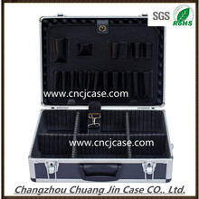 China professional factory black with removable dividers aluminum lux tool box