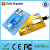 High quality hot selling credit card pendrive Customize logo