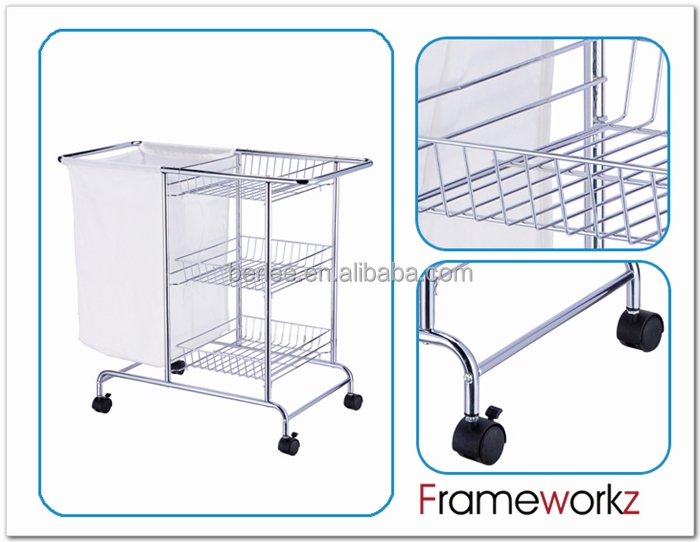 Hotel Laundry Cart Hotel Metal Laundry Cart With