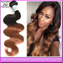 10 inch Health Products Unprocessed ombre color virgin brazilian body wave hair Accept Paypal