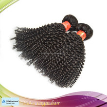100% unprocessed machine weft small kinky curly human hair