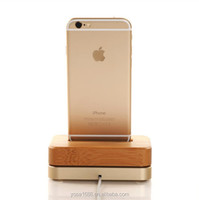 Bamboo Luxury Aluminium Metal Stand Mobile Phone Charging Holder Dock Mount for Apple iPhone 6 5S 5C 4S