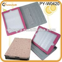 leather case for new ipad with cartoon pattern