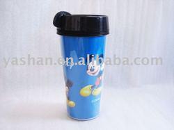 plastic thermos coffee mug cup
