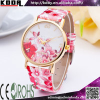 koda south korea print flower wrist watches western ladies watches