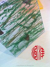 Sürgülü kapı için kullanılan, doğal yaprak saydam duvar paneli, katlanır kapı sürgülü plastik