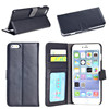 Luxury standing filp wallet genuine leather portfolio case for iphone 5