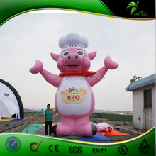 Pink inflatable outdoor cartoon for advertising on sale / cartoon character for advertising