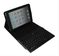 CE FCC RoHS Stand leather case + detachable Bluetooth keyboard for iPad mini BK-24