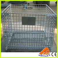 wire convenience store shelf,wire container storage cages,wire cage with wooden pallet