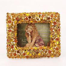 golden plated pewter alloy photo frame manufacturer
