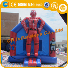 Amusement Inflatable Heroes Bouncy combo, commercial spiderman inflatable bouncy slide, outdoor combo wlith climb