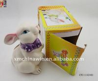 ceramic stock rabbite coin bank