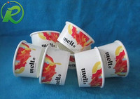 logo printed best seller ice cream paper cup with plastic lid