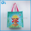 Hand length handle shopping tote laminating pp woven bag
