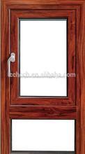 ventanas abatibles Marco de madera de aluminio aleación modificado para requisitos particulares
