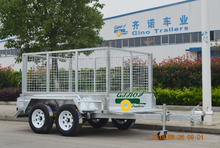 Hot dipped galvanized tandem cage trailer